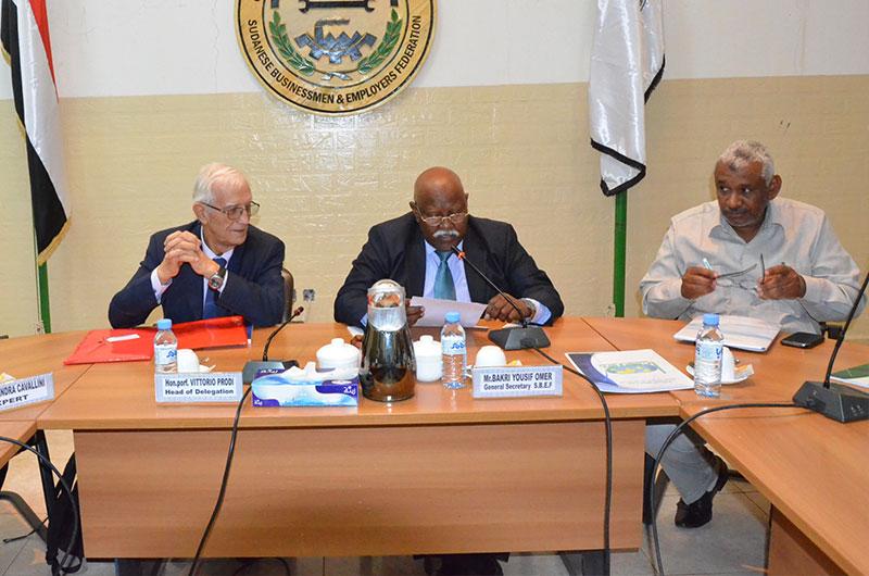 انعقاد جلسة العمل المشتركة بين وفد الشركات الايطالية ورجال الاعمال السودانيين